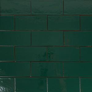 """Glazūruotos sieninės plytelės: """"Metro-turkio-žalios 10×20"""""""